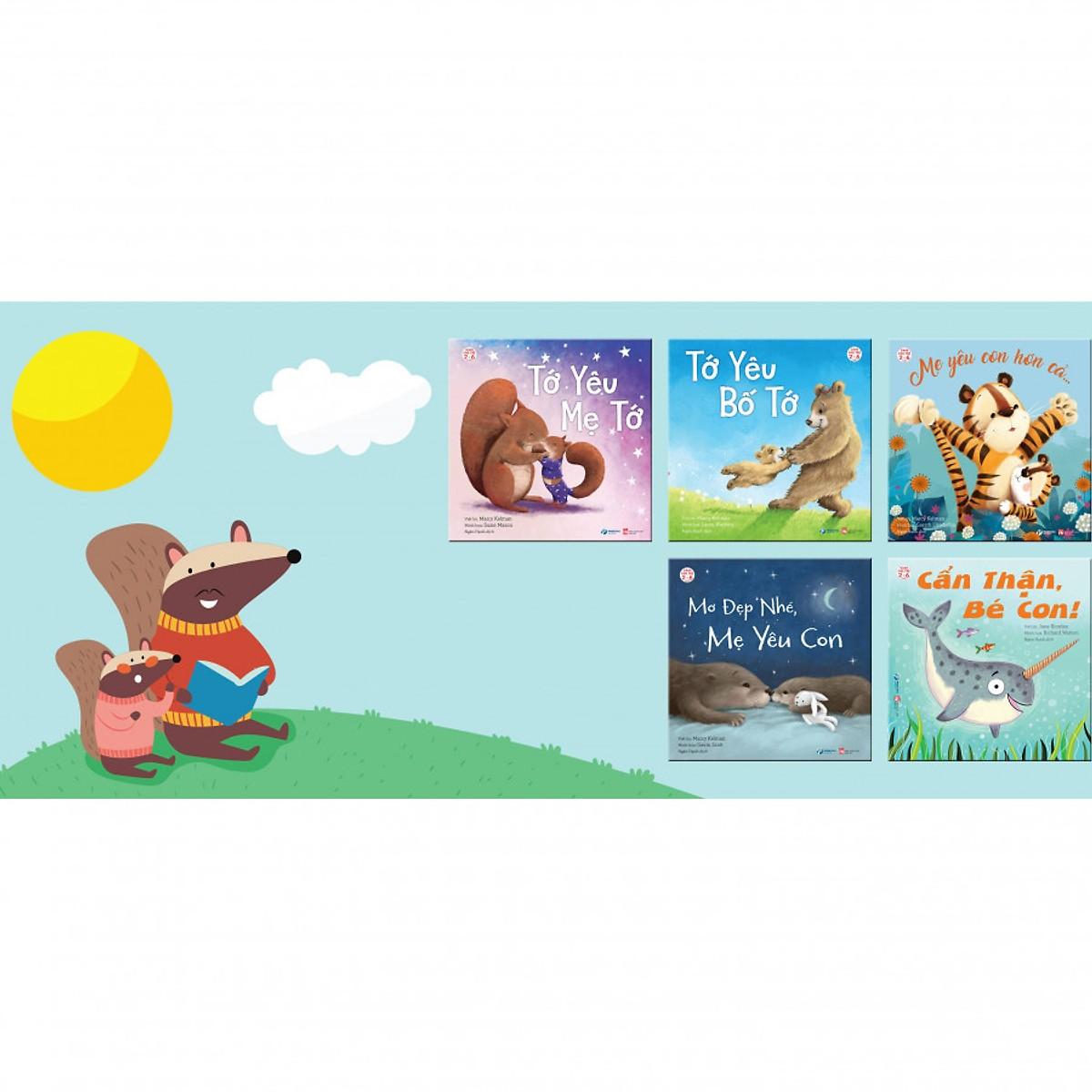 Thai giáo cảm xúc với bộ 5 cuốn truyện hay cho gia đình